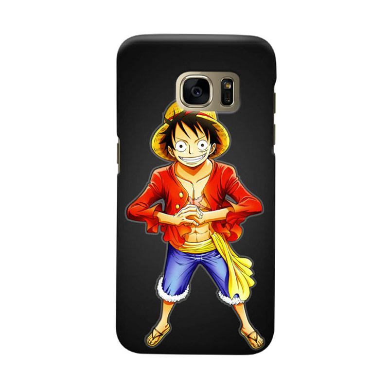 Indocustomcase Anime One Piece Character OP05 Luffy Cover Casing for Samsung Galaxy S7 Edge