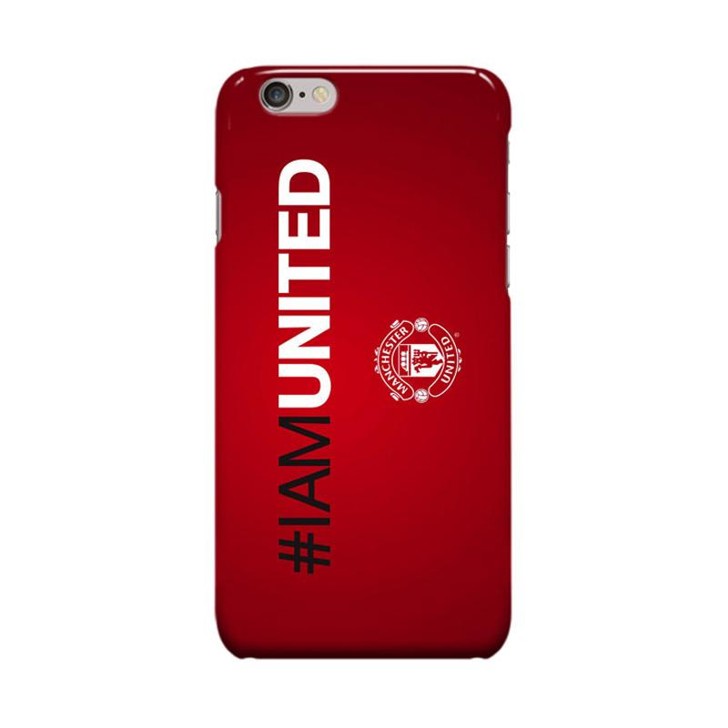 Indocustomcase Menchester United Logo MANU12 Cover Casing for Apple iPhone 6 Plus or 6S Plus