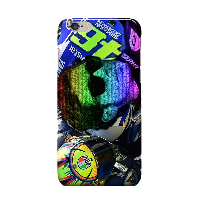 Indocustomcase Valentino Rossi The Doctor VR46 ID01 Casing for Apple iPhone 6 Plus or 6S Plus