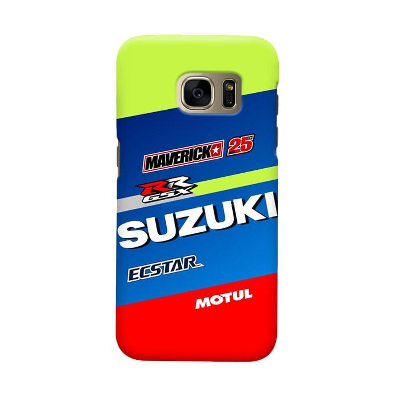 Indocustomcase Suzuki Ecstar Maverick Vinales 25 Cover Casing for Samsung Galaxy S6 Edge