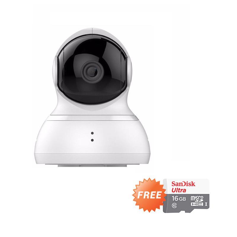 harga Xiaomi Yi Xiaoyi Dome Camera Smart IP Camera 360 CCTV - Putih [International Version] + Free Micro SD Sandisk 16 GB Class 10 Blibli.com