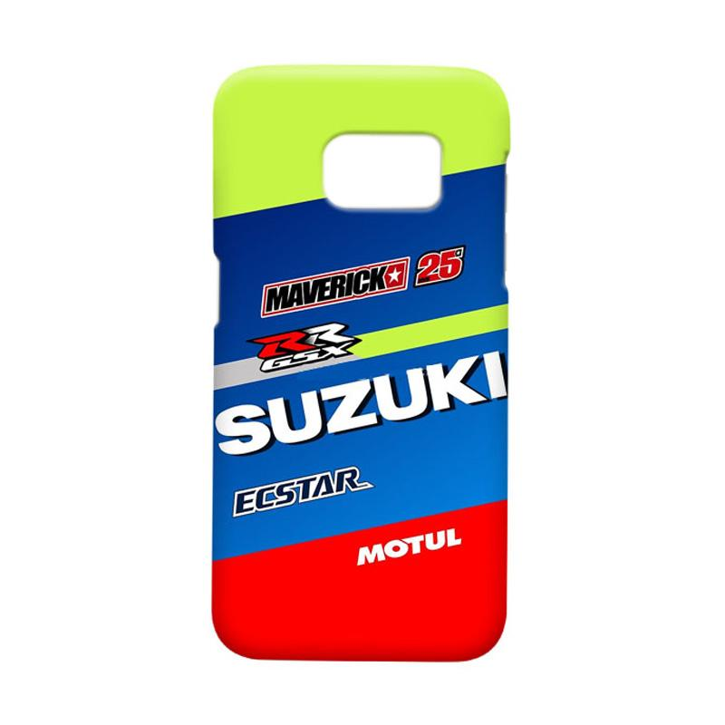 Indocustomcase Suzuki Ecstar Maverick Vinales 25 Cover Casing for Samsung Galaxy S7 Edge