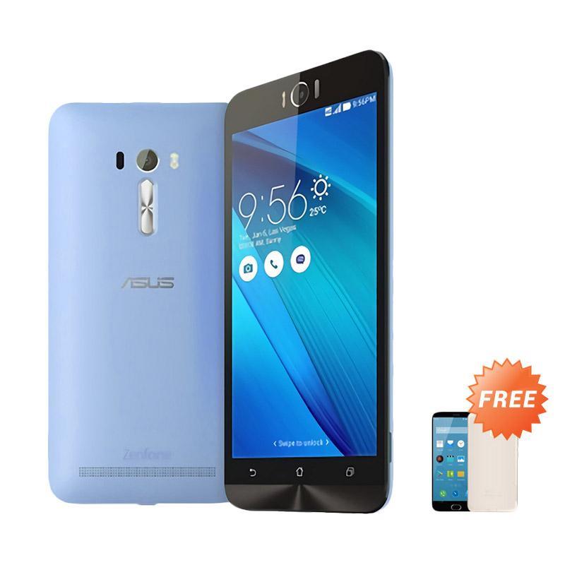 Ultrathin Aircase Casing for Asus Zenfone Laser 5.5 Inch - Blue Clear [Best Seller] + Free Ultrathin Casing