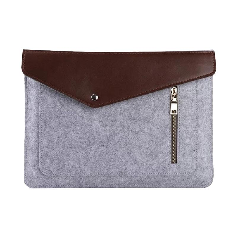 Cooltech Premium Soft Sleeve Bag Case Notebook Cover with Zipper for Macbook or Notebook 11.6 Inch - Grey