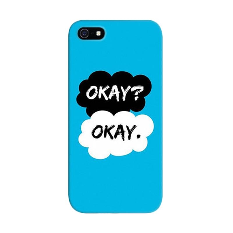 Indocustomcase The Fault In Our Star Okey Okey Custom Hardcase Casing for Apple iPhone 5/5S/SE