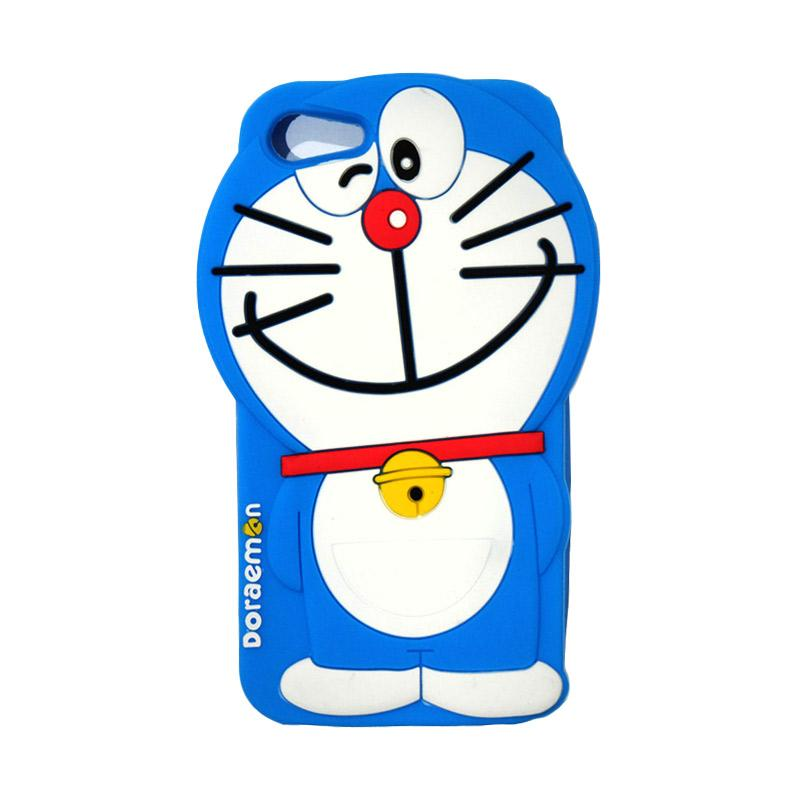 VR Silicon 3D Karakter Doraemon Edition Softcase Casing for Apple iPhone 7 or 7G 4.7 Inch - Blue