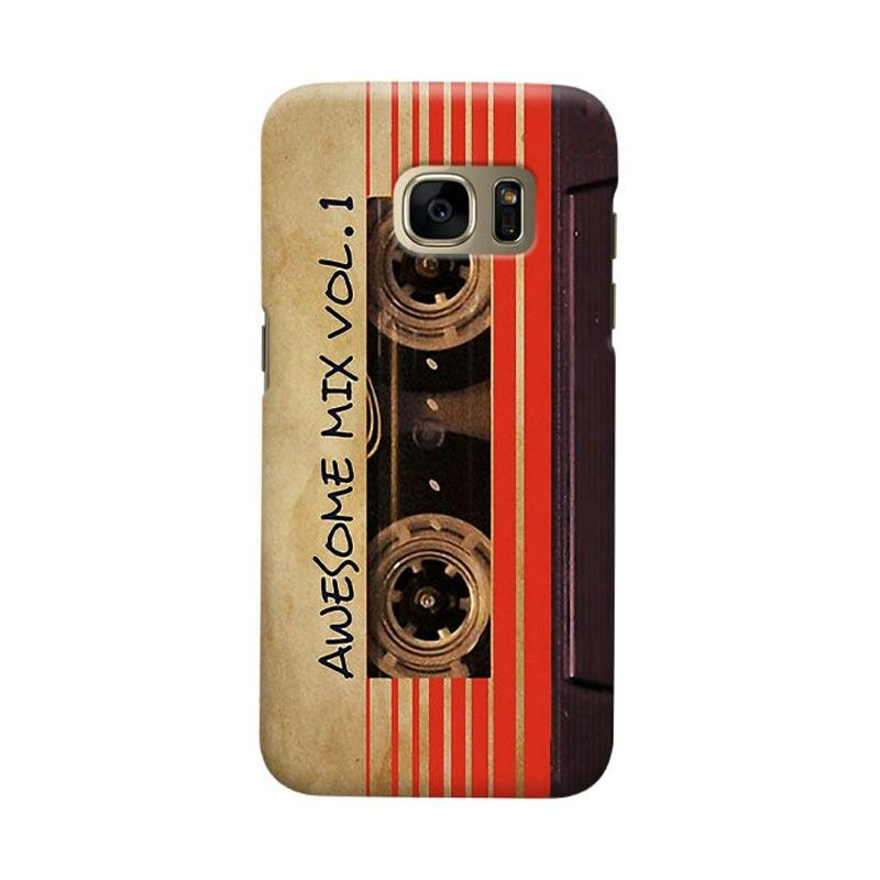 Indocustomcase Awesome Mix Vol 1 Vintage Cassette Cover Casing for Samsung Galaxy S6 Edge
