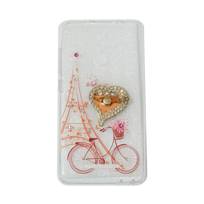 VR Softshell Swarovski Sepeda 6 With Ring Stand Diamond Ultrathin Softcase Casing for Xiaomi Redmi 3S