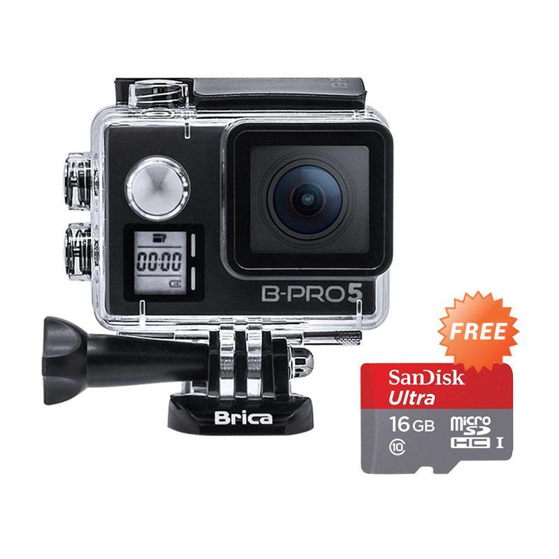 harga Brica B-Pro 5 Alpha Edition Version 2 Mark IIs AE2S Action Camera - Hitam + Free Sandisk SDSQUNC-016G-GN6MA 16GB with Adaptor Blibli.com