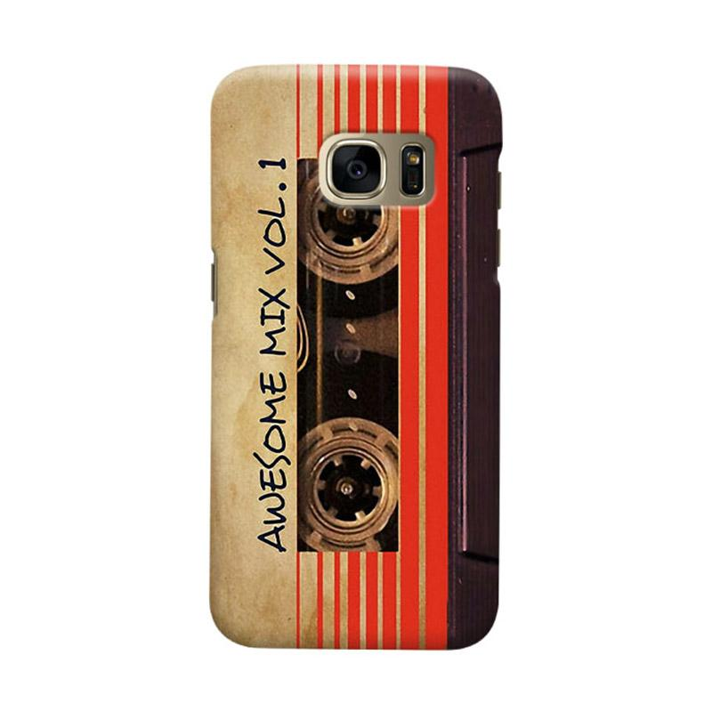 Indocustomcase Awesome Mix Vol 1 Vintage Cassette Cover Casing for Samsung Galaxy S7 Edge