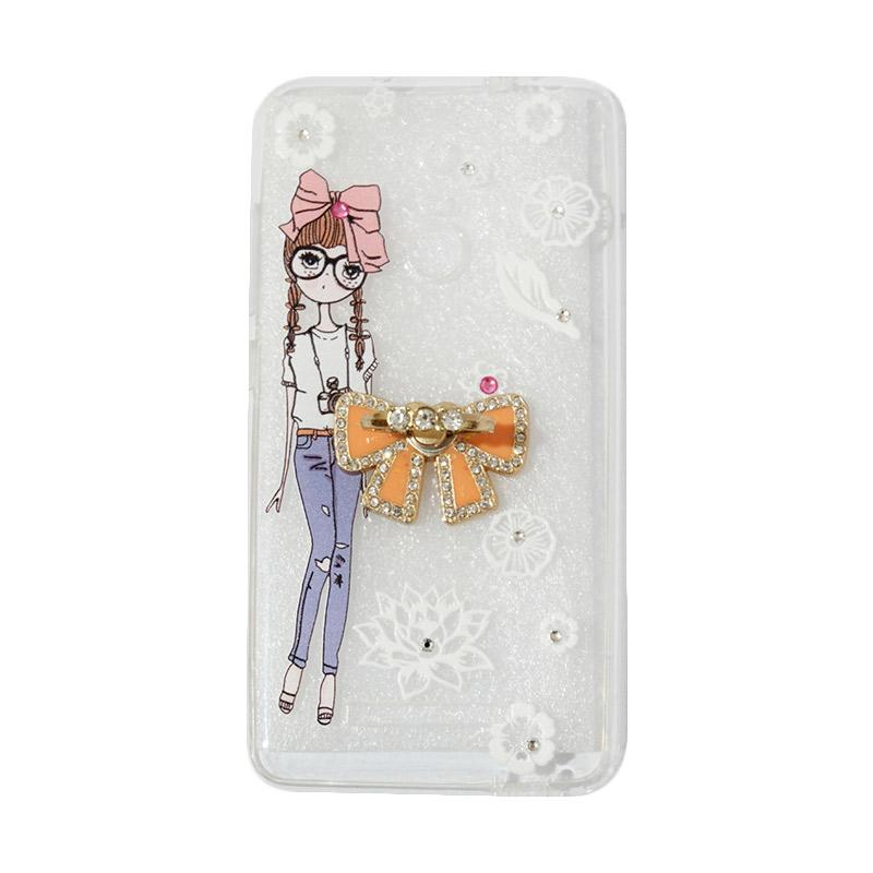 VR Softshell Swarovski Girls 1 Ultrathin Silicone Softcase with Ring Stand Diamond Casing for Xiaomi Redmi 3s