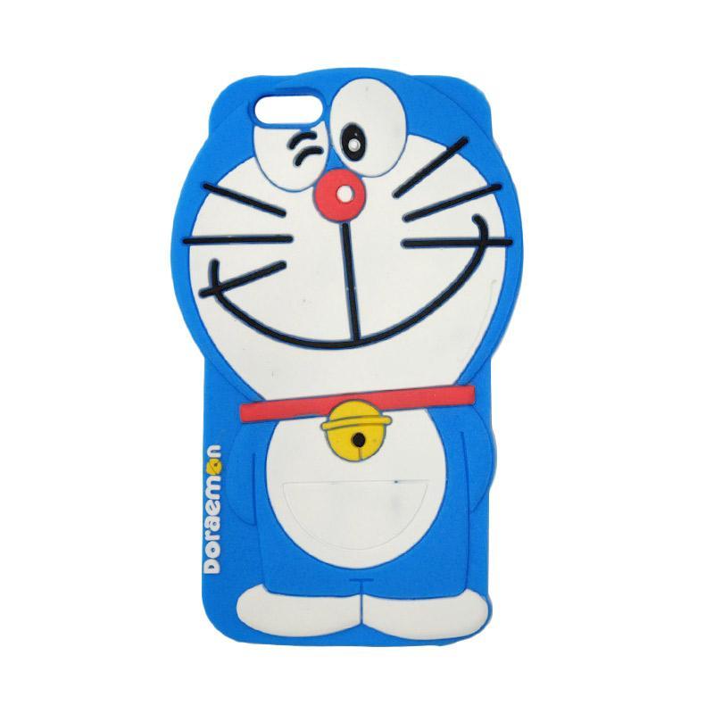 VR Silicon 3D Karakter Doraemon Edition Softcase Casing for Apple iPhone 6/6G/6S/6 4.7 Inch - Blue