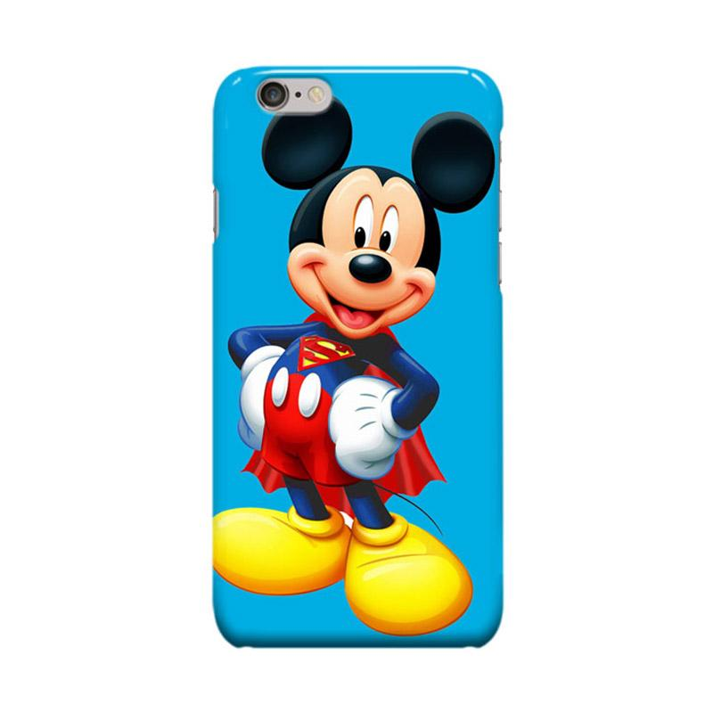 Indocustomcase Cartoon Supermickey Mickey Mouse Cover Casing for Apple iPhone 6 Plus or iPhone 6S Plus