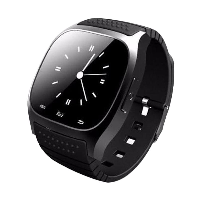 harga Cognos M26 Bluetooth Smartwatch with LED Alitmeter Music Player Pedometer for Apple iOS or Android - Hitam Blibli.com