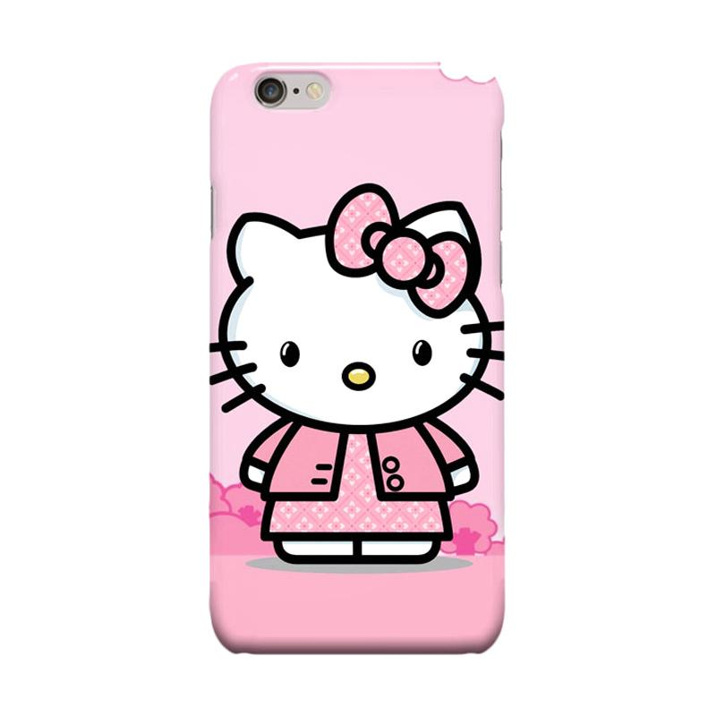 Indocustomcase Cartoon Hello Kitty Series HK03 Cover Casing for Apple iPhone 6 Plus or 6S Plus - Pink