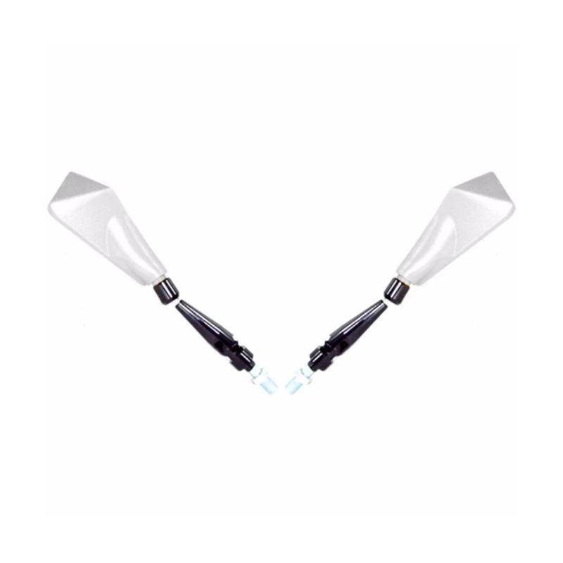 Raja Motor Model Tomok 1 Universal Spion Kaca Putih for Fairing or Non Fairing - Silver [SPI9077-Silver]