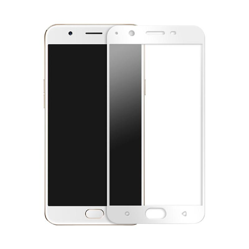VR Tempered Glass Full Screen Protector for Oppo F1S Selfie Expert or Oppo A59 Anti Gores Kaca / Temper Kaca - White [Front Only]