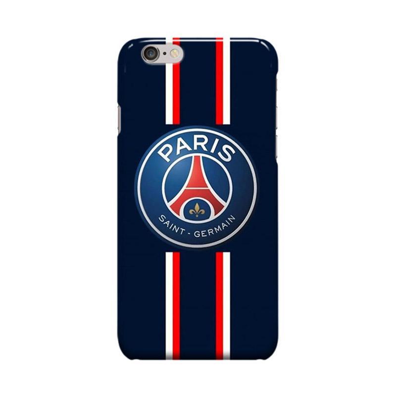 Indocustomcase Paris Saint Germain FC PSG04 Navy Cover Casing for Apple iPhone 6 Plus or 6S Plus