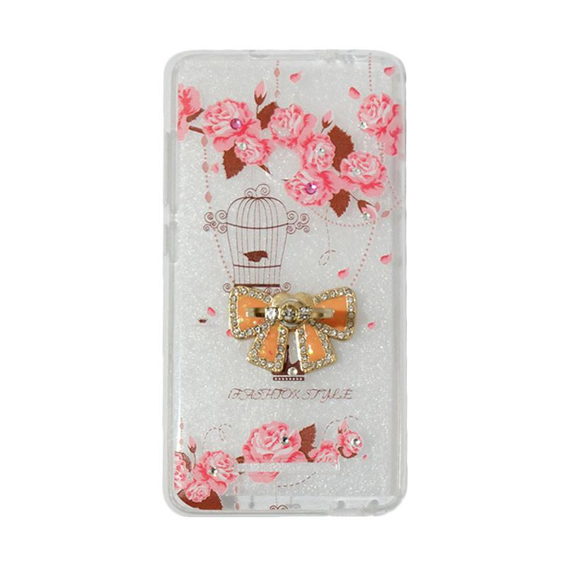 VR Softshell Swarovski Bird 5 Ultrathin Silicone Softcase with Ring Stand Diamond Casing for Xiaomi Redmi Note 3