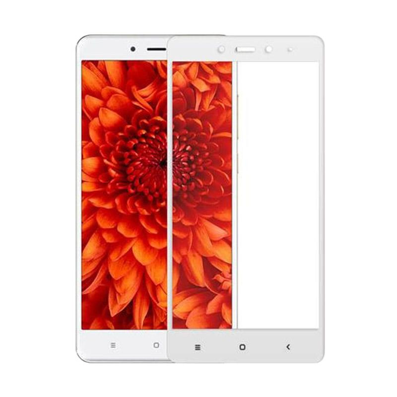 VR Tempered Glass Full Screen Protector for Xiaomi Redmi 4 or Redmi 4 Prime - White [Anti Gores Kaca/ Only Front]