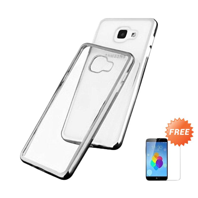 Ultrathin List Chrome Casing for Samsung Galaxy A5 2016 - Silver + Free Temperred Glass Screen Protector