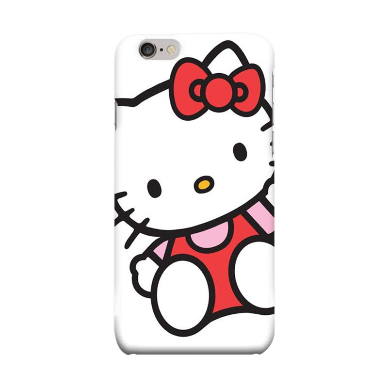 Indocustomcase Cartoon Hello Kitty Series HK02 White Casing for Apple iPhone 6 Plus or 6S Plus
