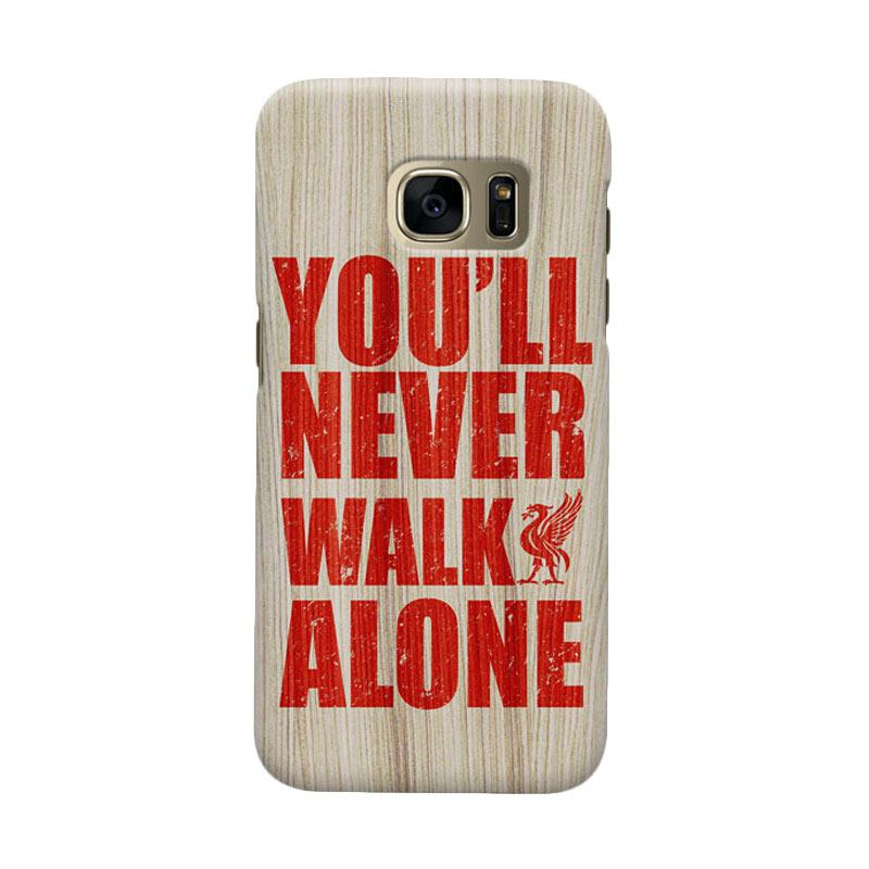 Indocustomcase Liverpool FC YNWA On Wood Texture Casing for Samsung Galaxy S6 Edge
