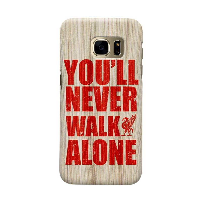 Indocustomcase Liverpool FC YNWA On Wood Texture Casing for Samsung Galaxy S7 Edge