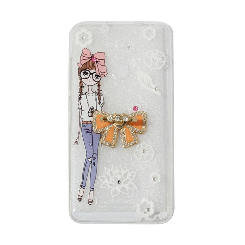 VR Softshell Swarovski Girls 1 Ultrathin Silicone Softcase with Ring Stand Diamond Casing for Xiaomi Redmi 3 Pro