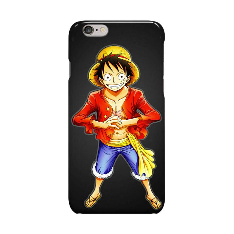 Indocustomcase Anime One Piece Series ID06 Monkey D Luffy Cover Casing for iPhone 6 Plus or 6S Plus