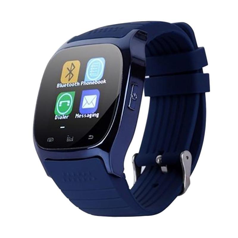 harga Cognos M26 Bluetooth With LED Alitmeter Music Player Pedometer Smartwatch for Apple Ios or Android - Biru Blibli.com