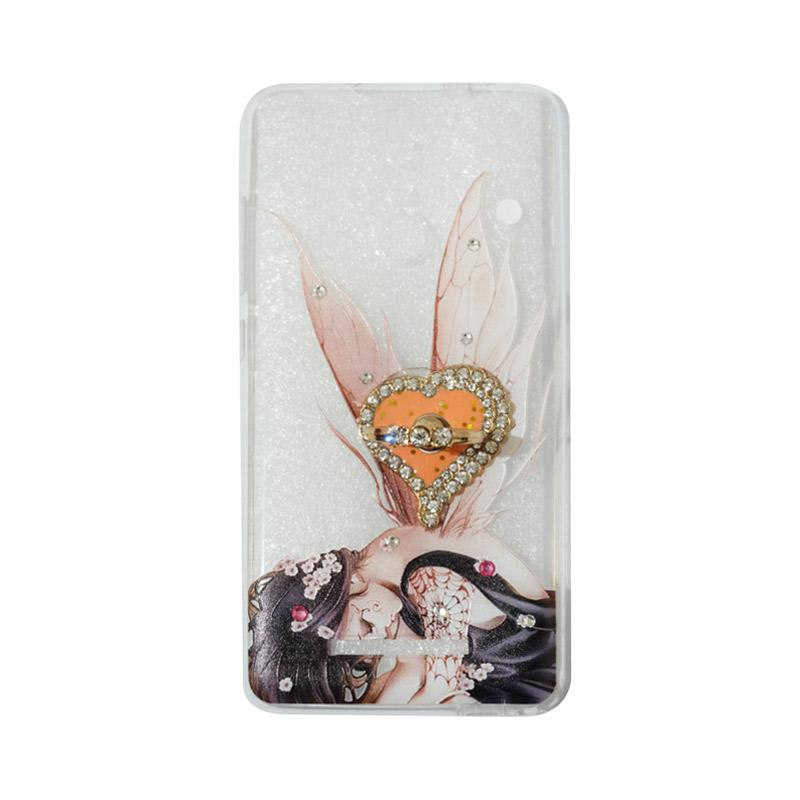 VR Softshell Swarovski Fairy 2 Ultrathin Silicone Softcase with Ring Stand Diamond Casing for Xiaomi Redmi Note 3