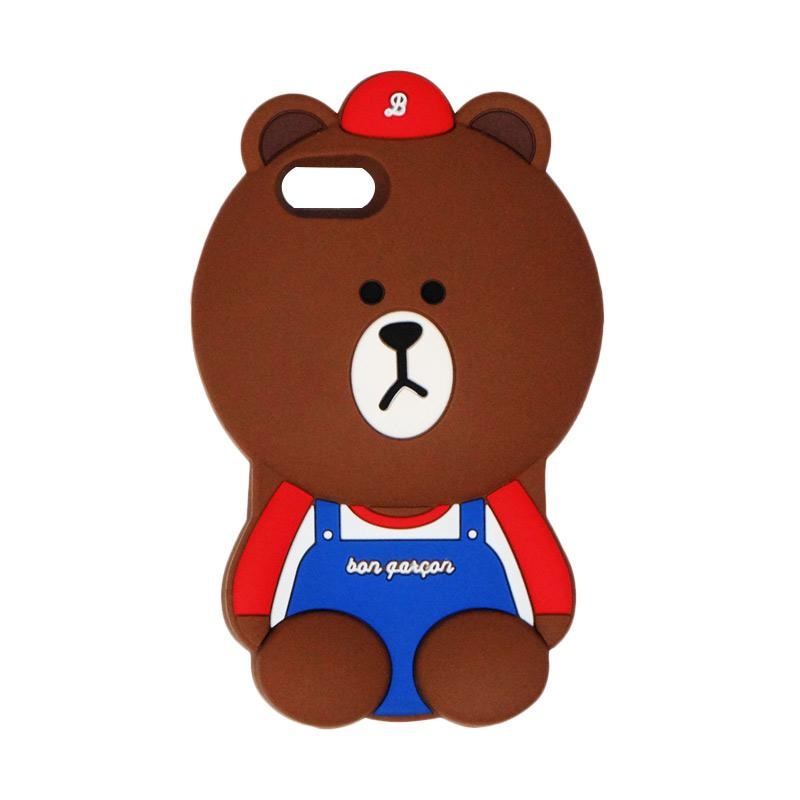VR Silicon 3D Karakter Bear Bon Qaxcon Edition Softcase Casing for Apple iPhone 7 or 7G 4.7 Inch - Brown