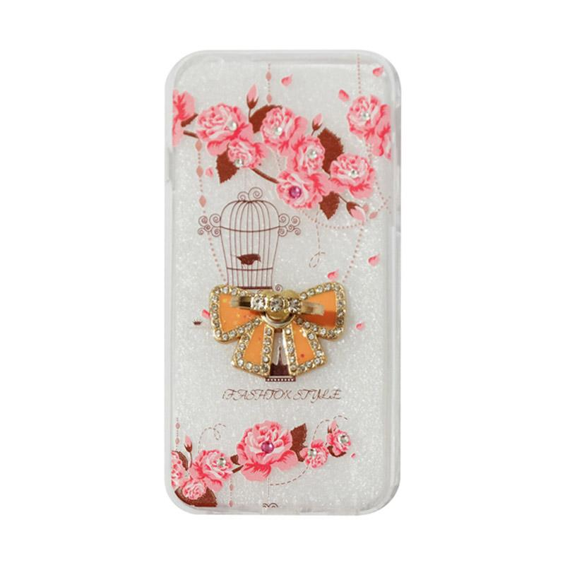 VR Swarovski Bird 5 Ultrathin Silicone Softcase Casing with Diamond Ring Stand for Apple iPhone 6/iPhone6/Iphone 6G/6S 4.7 Inch
