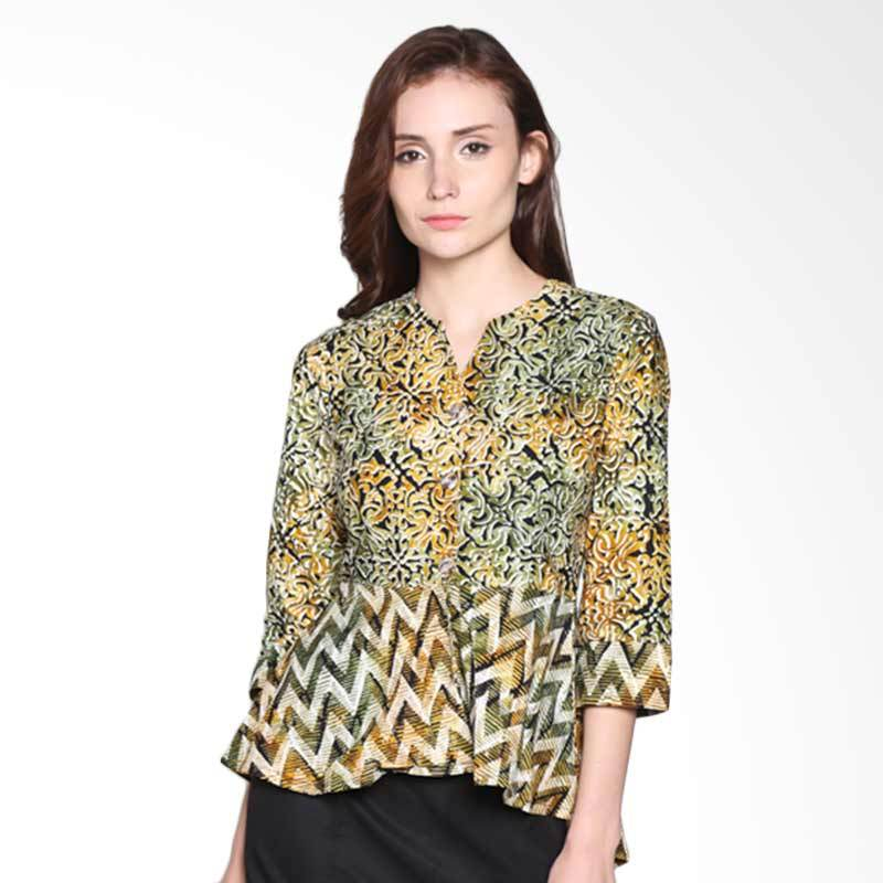 Batik Pria Tampan Women WBL34-18101601K Chevron Stripe Mix Holiday Tile Blouse Atasan Wanita - Sunrise