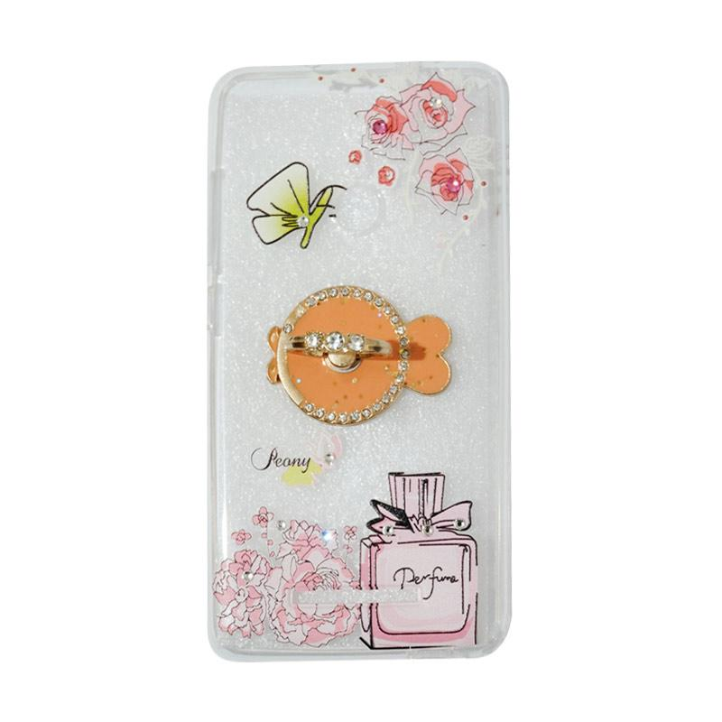 VR Softshell Swarovski Perfum 3 With Ring Stand Diamond Ultrathin Softcase Casing for Xiaomi Redmi 3 Pro