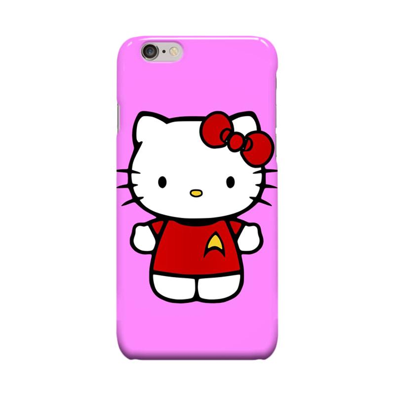 Indocustomcase Cartoon Hello Kitty Series HK05 Cover Casing for Apple iPhone 6 Plus or 6S Plus - Purple
