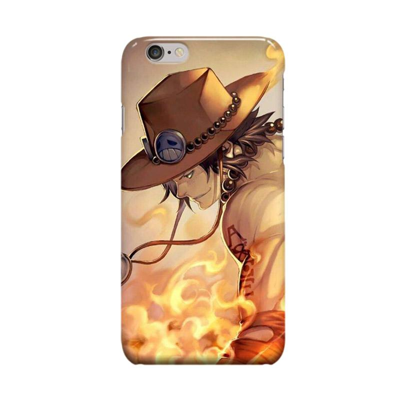 Indocustomcase Anime One Piece Series ID02 Portgas D Ace Cover Casing for Apple iPhone 6 Plus or 6S Plus