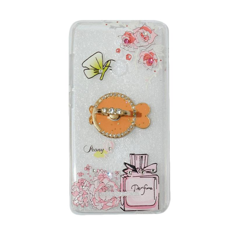 VR Softshell Swarovski Perfum 3 With Ring Stand Diamond Ultrathin Softcase Casing for Xiaomi Redmi Note 3