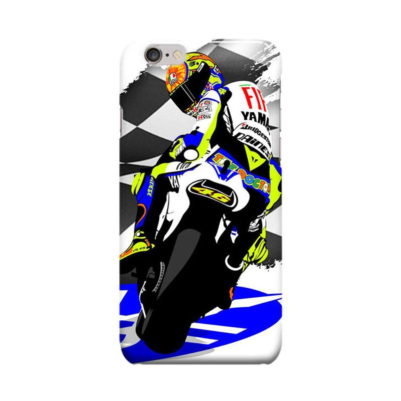 Indocustomcase Valentino Rossi The Doctor VR46 ID02 Cover Casing for Apple iPhone 6 Plus or 6S Plus