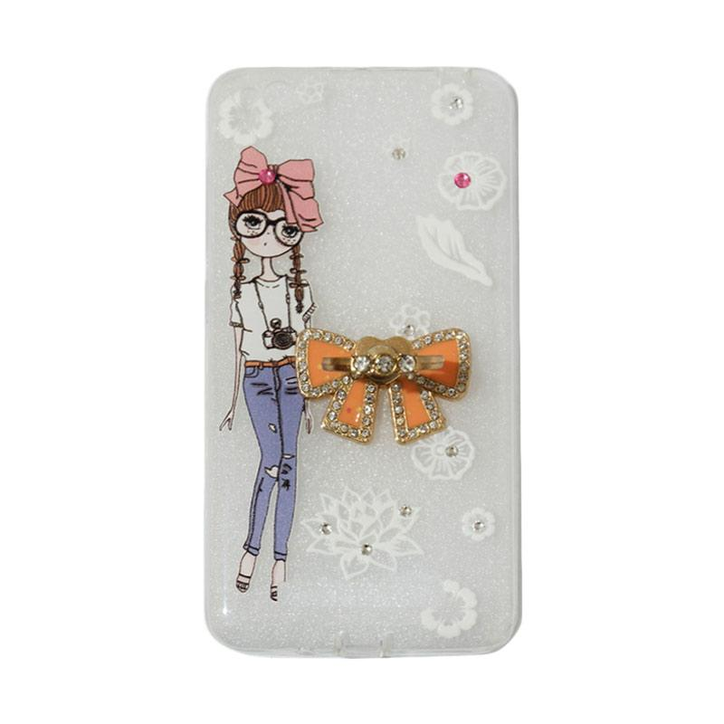 VR Softshell Swarovski Girls 1 Ultrathin Silicone Softcase with Ring Stand Diamond Casing for Xiaomi Redmi 4A