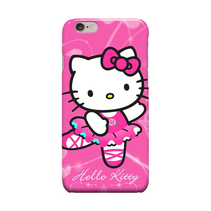 Indocustomcase Cartoon Hello Kitty Series HK01 Cover Casing for Apple iPhone 6 Plus or 6S Plus - Pink