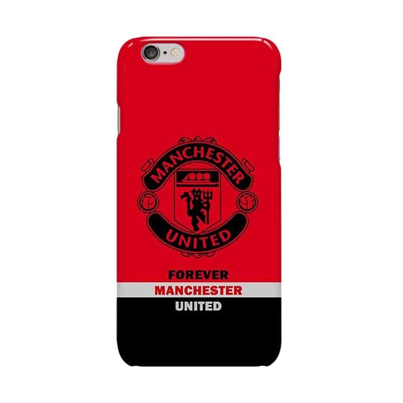 Indocustomcase Menchester United Logo MANU04 Cover Hardcase Casing for Apple iPhone 6 Plus or 6S Plus