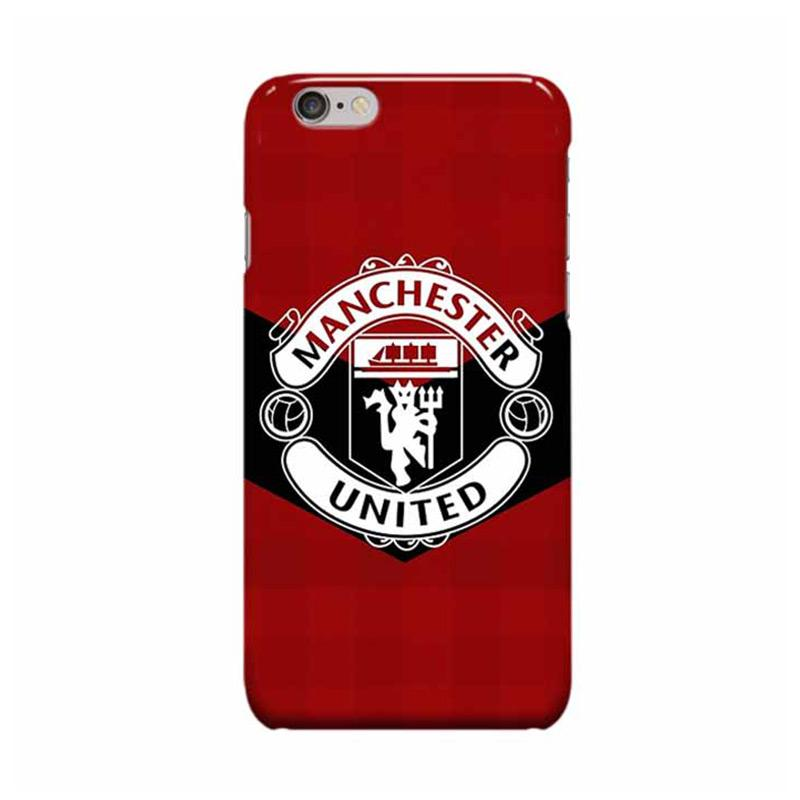 Indocustomcase Menchester United Logo MANU08 Cover Hardcase Casing for Apple iPhone 6 Plus or 6S Plus