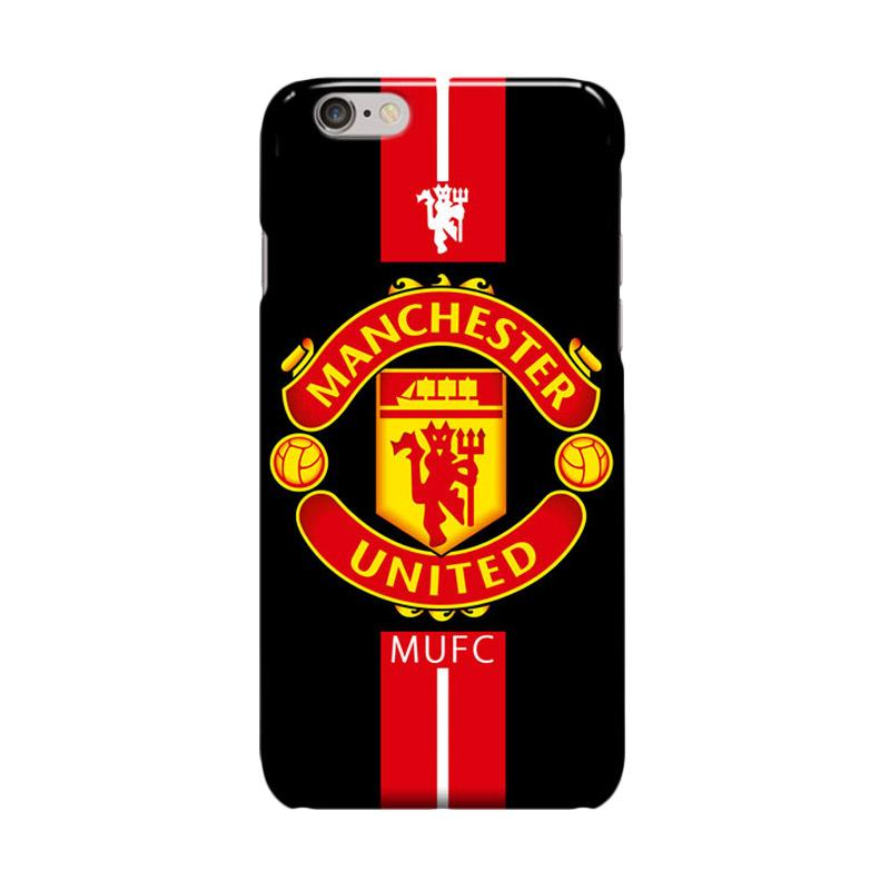 Indocustomcase Menchester United Logo MANU09 Cover Hardcase Casing for Apple iPhone 6 Plus or 6S Plus