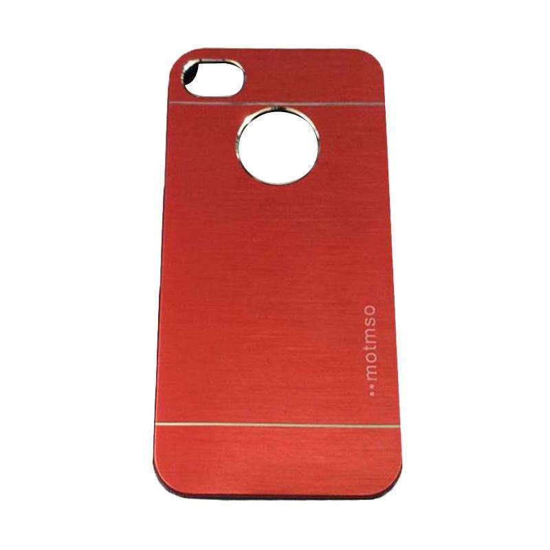 Motomo Metal Hardcase Backcase Casing for Apple iPhone 6 Plus 5.5 Inch - Red