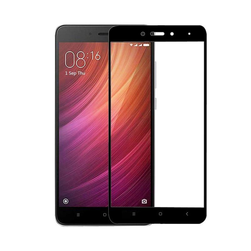 VR Tempered Glass Full Screen Protector for Xiaomi Redmi 4 or Xiaomi Redmi 4 Prime Anti Gores Kaca / Temper Kaca - Black [Front Only]