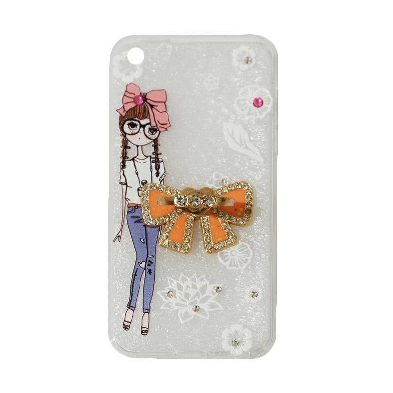 VR Softshell Swarovski Girls 1 Ultrathin Silicone Softcase with Ring Stand Diamond Casing for Apple iPhone 5/5G/5S
