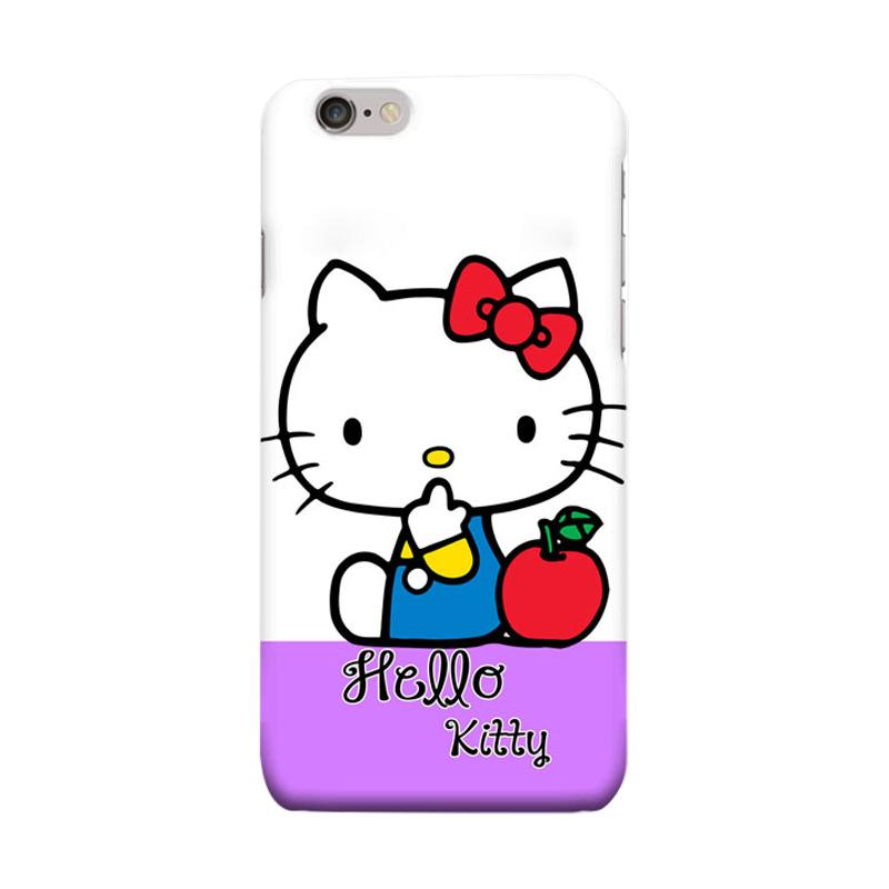 Indocustomcase Cartoon Hello Kitty Series HK04 Cover Casing for Apple iPhone 6 Plus or 6S Plus - Purple White