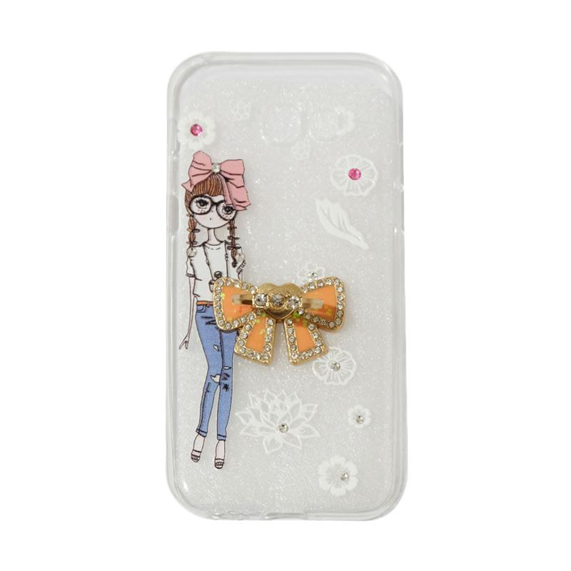 VR Softshell Swarovski Girls 1 Ultrathin Silicone Softcase with Ring Stand Diamond Casing for Samsung Galaxy A520 or A5 2017